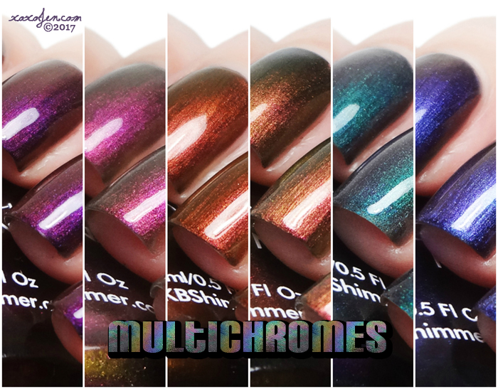 xoxoJen's swatch of KBShimmer Multichromes