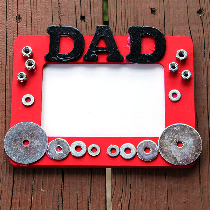 Diy Father S Day Picture Frames | secondtofirst.com