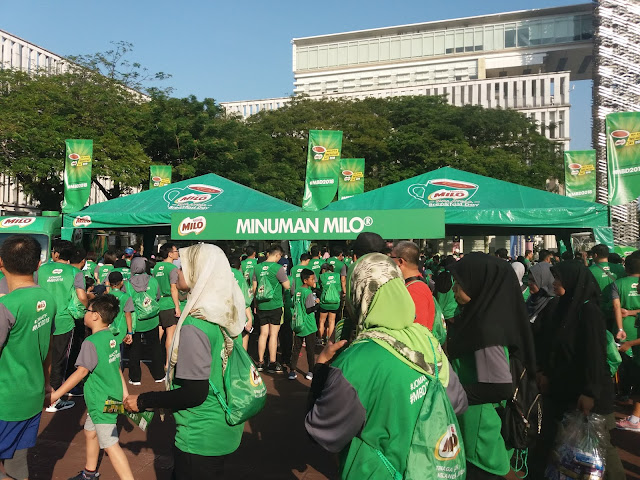I ran at Milo Breakfast Day 2018