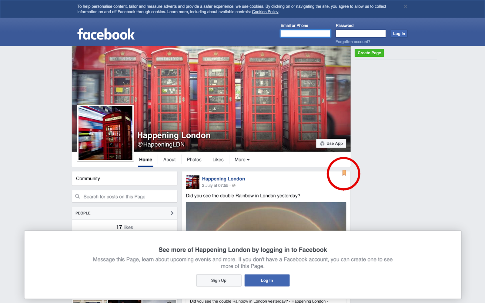 how to pin a post on facebook group