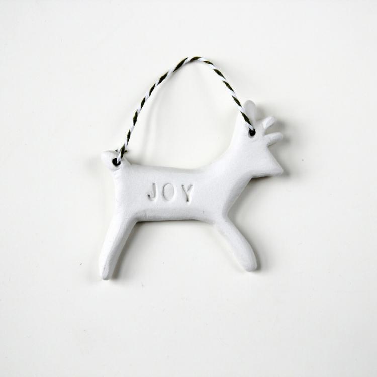 Diy Clay Christmas Reindeer Decorations.
