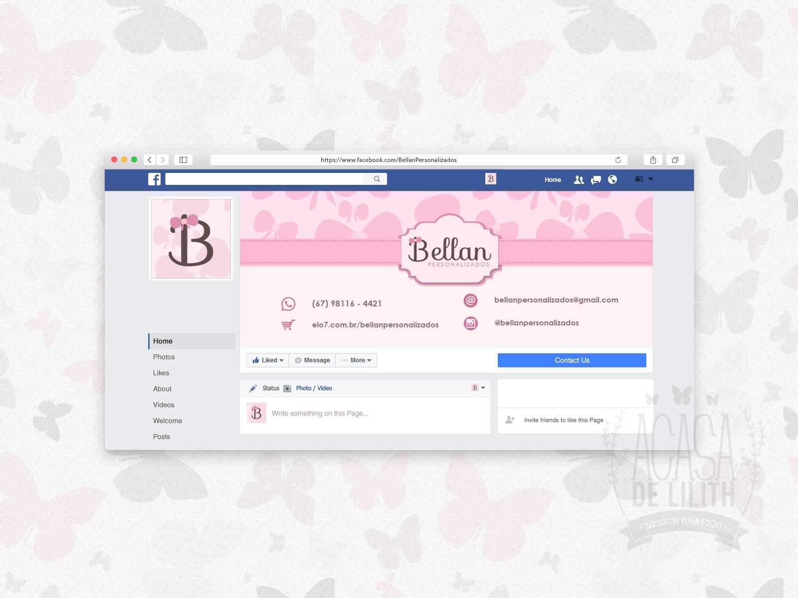 Criação de Identidade Visual: Logotipo, Papelaria Personalizada e Arte para Facebook e Loja Elo7