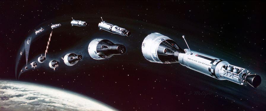 stages of apollo spacecraft docking - photo #7