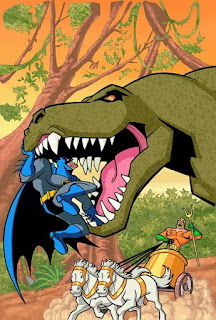 Batman Vs Dinosaur