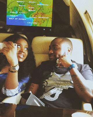 Davido and girlfriend Chef chioma loved up photos
