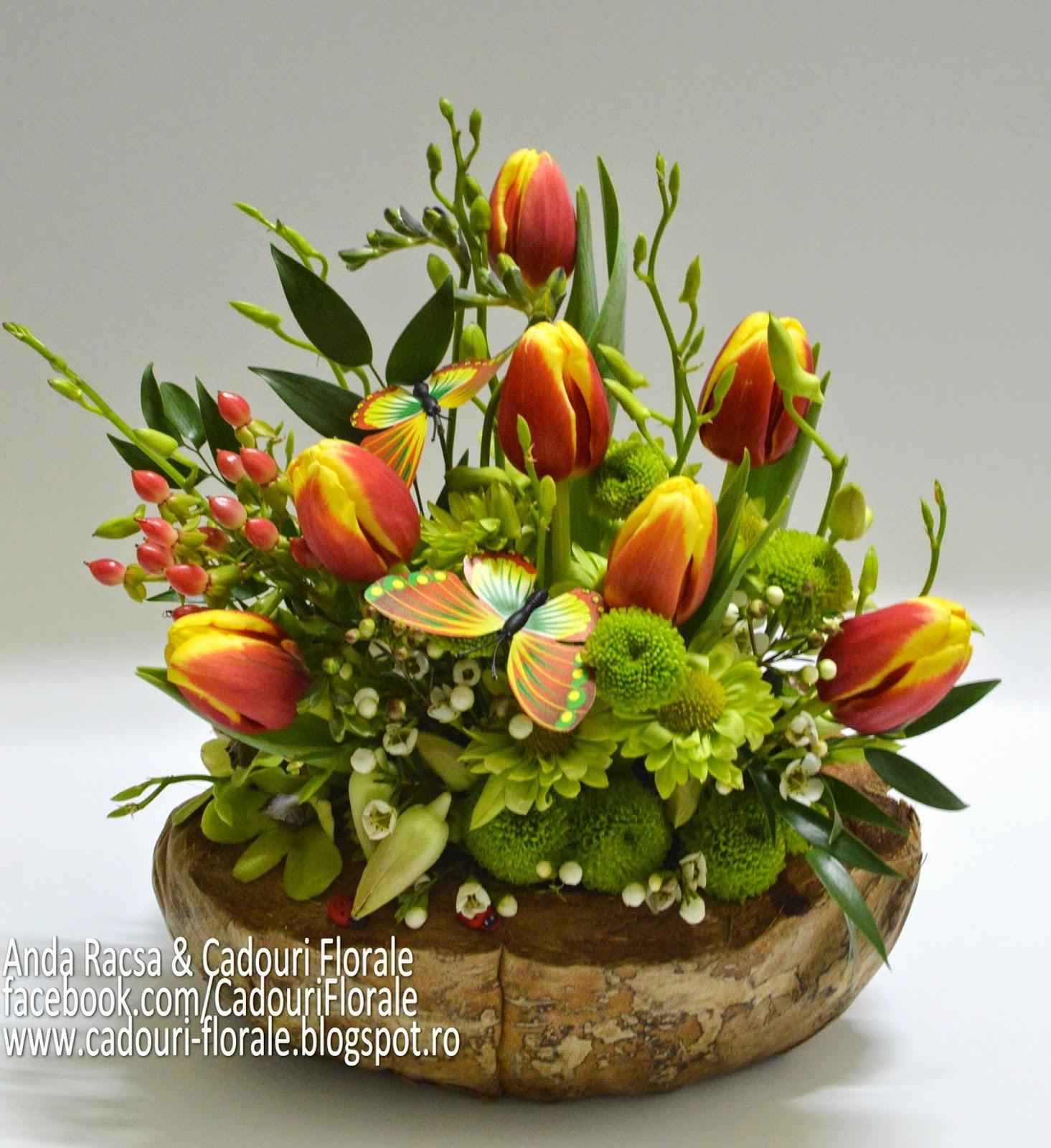 Aranjamente Florale Cu Lalele Aranjamente Din Flori Si Plante