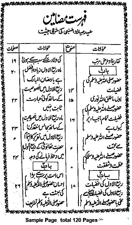 Eid Milad un Nabi In the Light of Islam Urdu