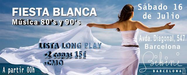 Flyer Fiesta Blanca 80s & 90s