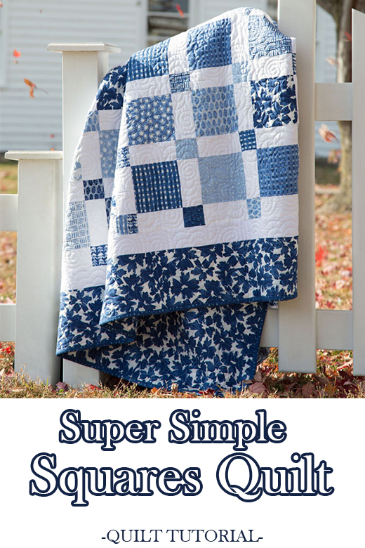 Super Simple Squares Quilt Free Tutorial designed by Jenny of Missouri Quilt Co
