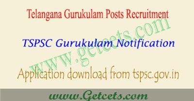 TSPSC Gurukulam notification 2018,Telangana Gurukulam notification 2018,TS Gurukulam Recruitment 2018
