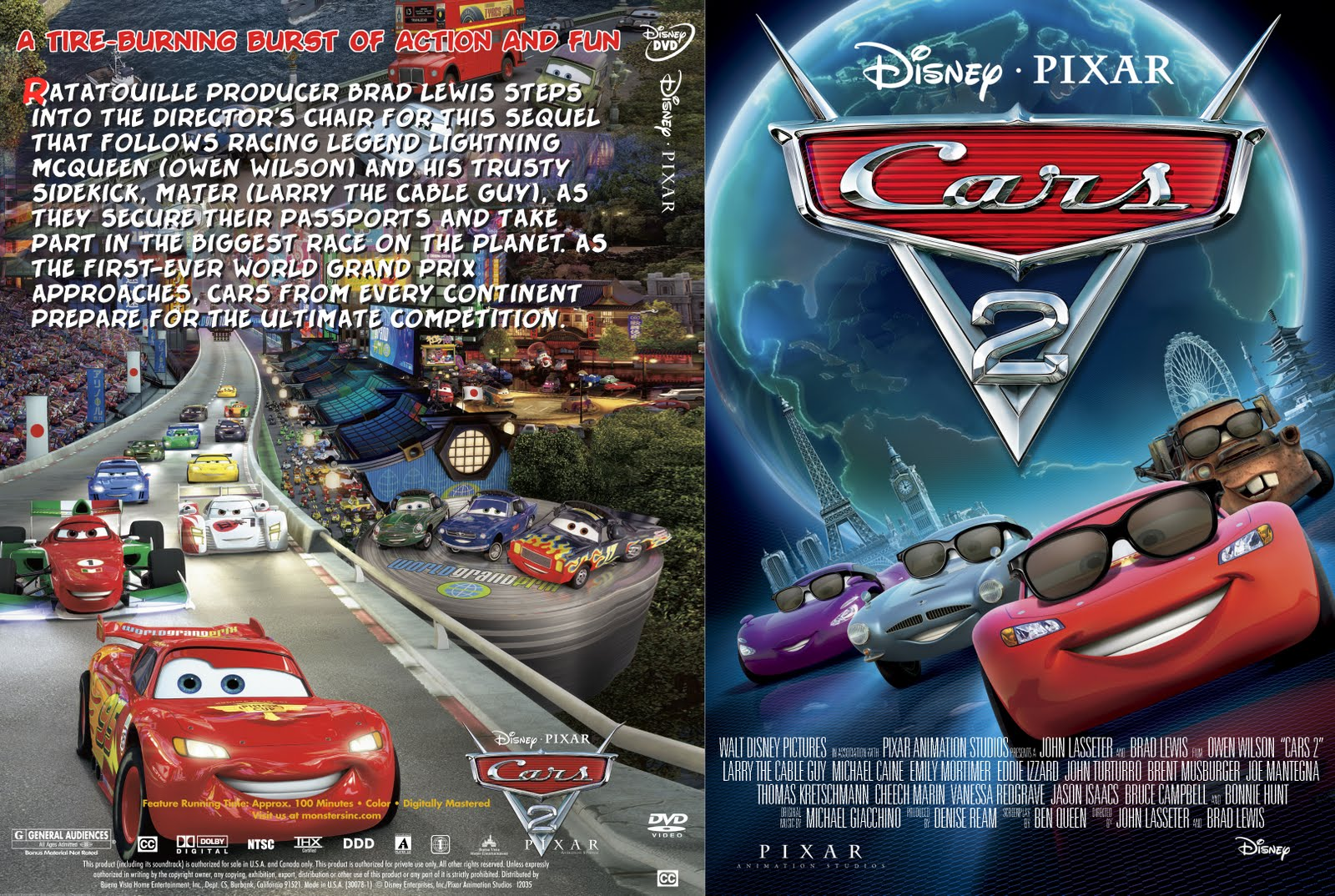 DVD COVERS AND LABELS: Cars 2