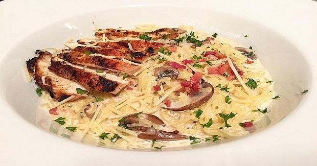 Blackened Chicken & Spaghetti Squash Alfredo Recipe