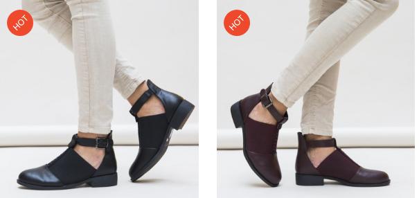 Pantofi casual de dama negri, grena ieftini de primavara