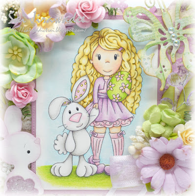 Paper Nest Dolls Ellie and Bunny Friend