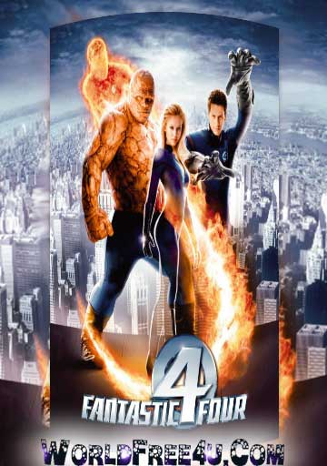 Poster Of Fantastic Four (2005) Full Movie Hindi Dubbed Free Download Watch Online At worldfree4u.com