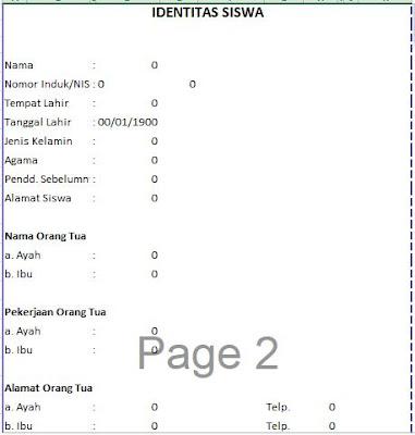 Identias Siswa pada Raport KTSP SD, http://www.librarypendidikan.com/