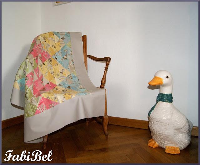 Patchwork couverture bébé Baby girl quilt blanket