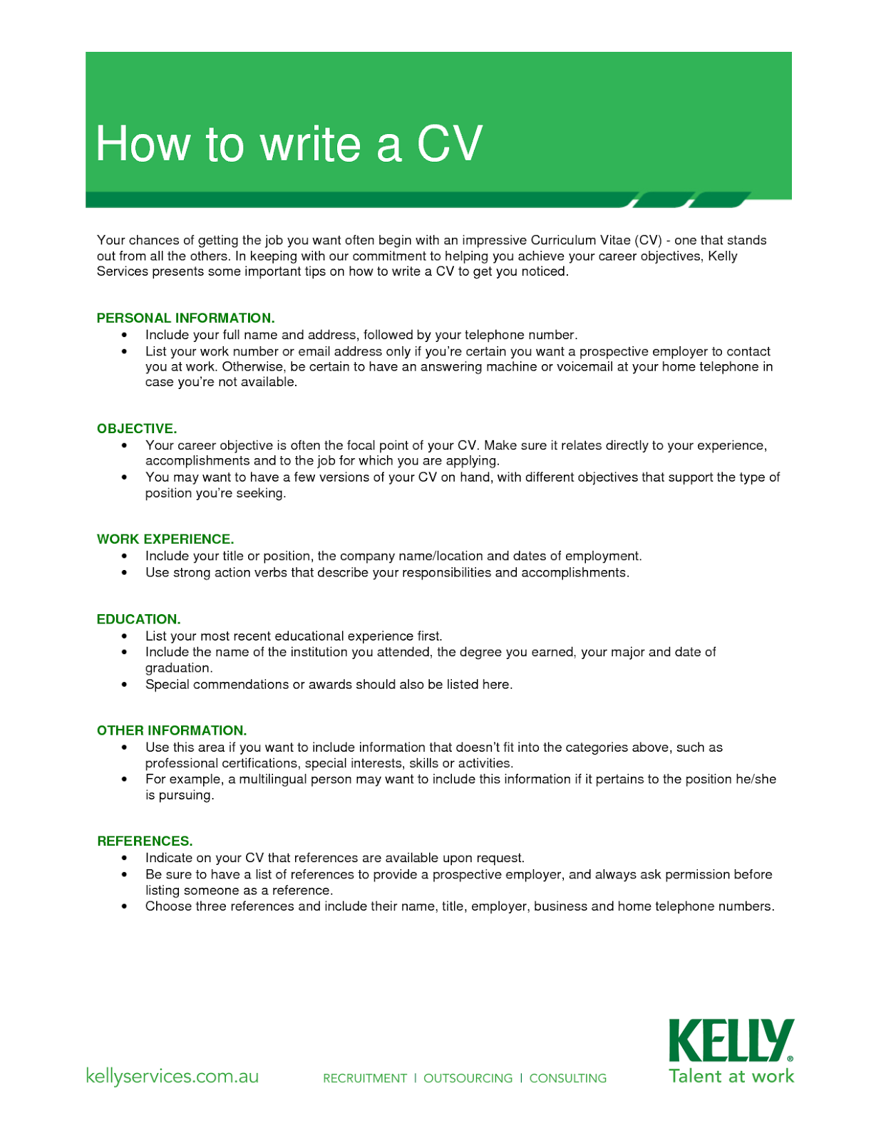 how to make a basic resume
