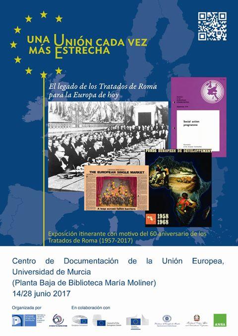 """Exposición: """"60 aniversario de los Tratados de Roma""""."""