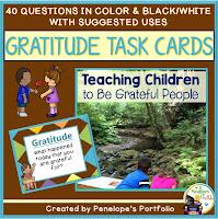 Gratitude Character Education - Social Skills Task Cards