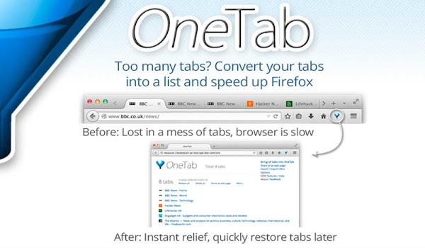 Firefox OneTab Eklentisi ile Tüm Sekmeleri Birleştirin