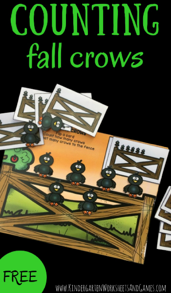 Counting Fall Crows - This free printables for kids education counting activities is a fun way for toddler, preschool, and kindergarten age kids to practice early math with a fun fall theme.