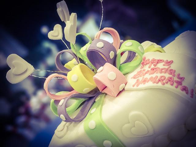 Geburtstagstorte mit Fondant verzieren