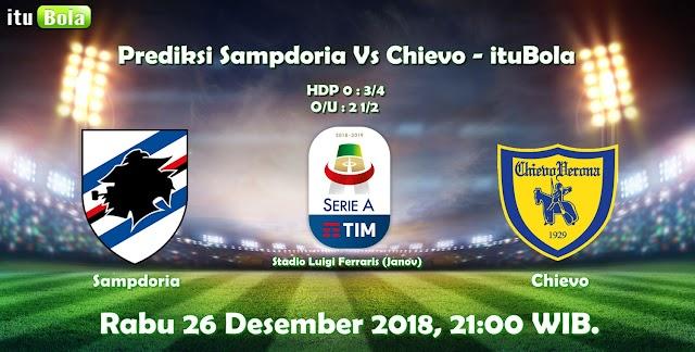 Prediksi Sampdoria Vs Chievo - ituBola