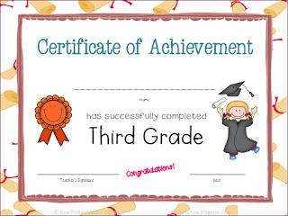 Third Grade Certificates