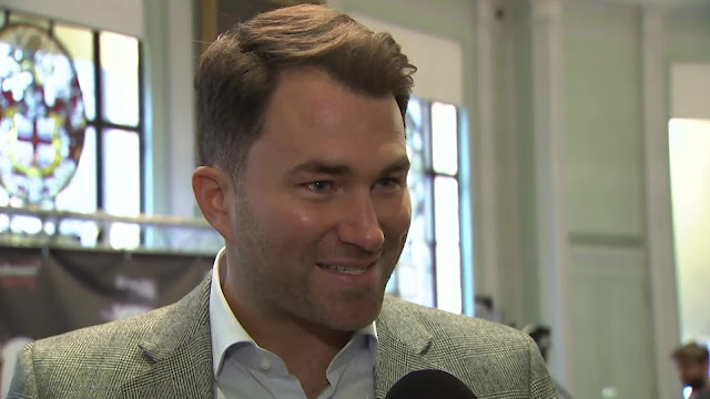 Eddie Hearn laughs