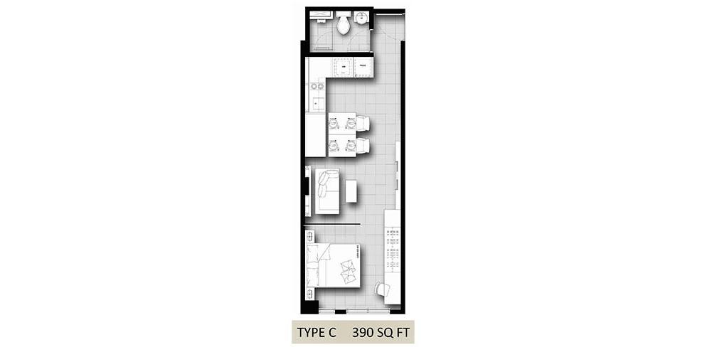 Hanson Court Suites Type C Floorplan