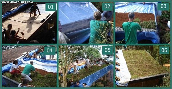 como fazer telhado verde passo a passo