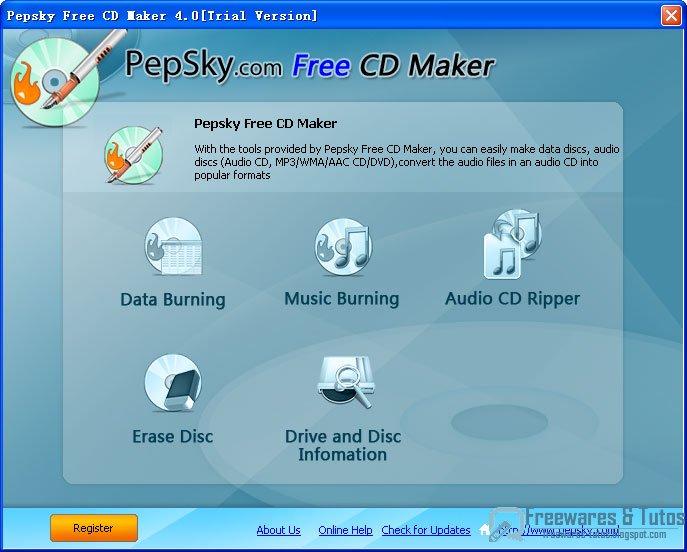 pepsky free cd maker   un logiciel de gravure gratuit