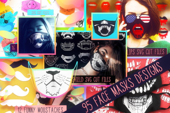 Face Mask Bundle With 95 Designs