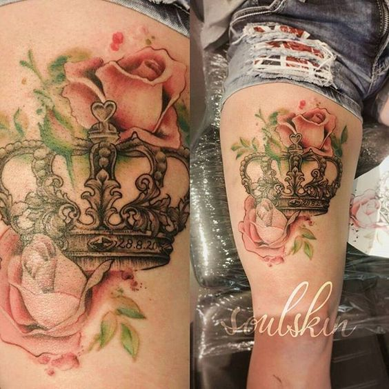 Best Flower Crown Tattoo Designs For Girls