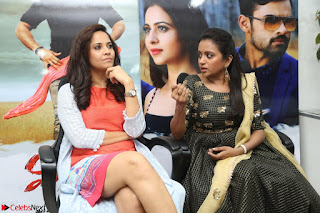 Actress Suma in Black Salwar Suit and Anusuya in orange Dress at winner movie press meet part 2 February 2017 (28).JPG