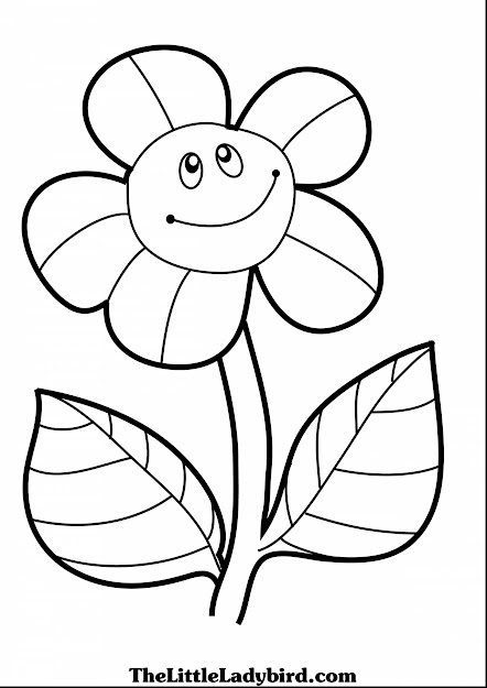 Brilliant Coloring Page Of Smiling Sunflower Pages The Little With Sunflower  Coloring Page And Sunflower Coloring