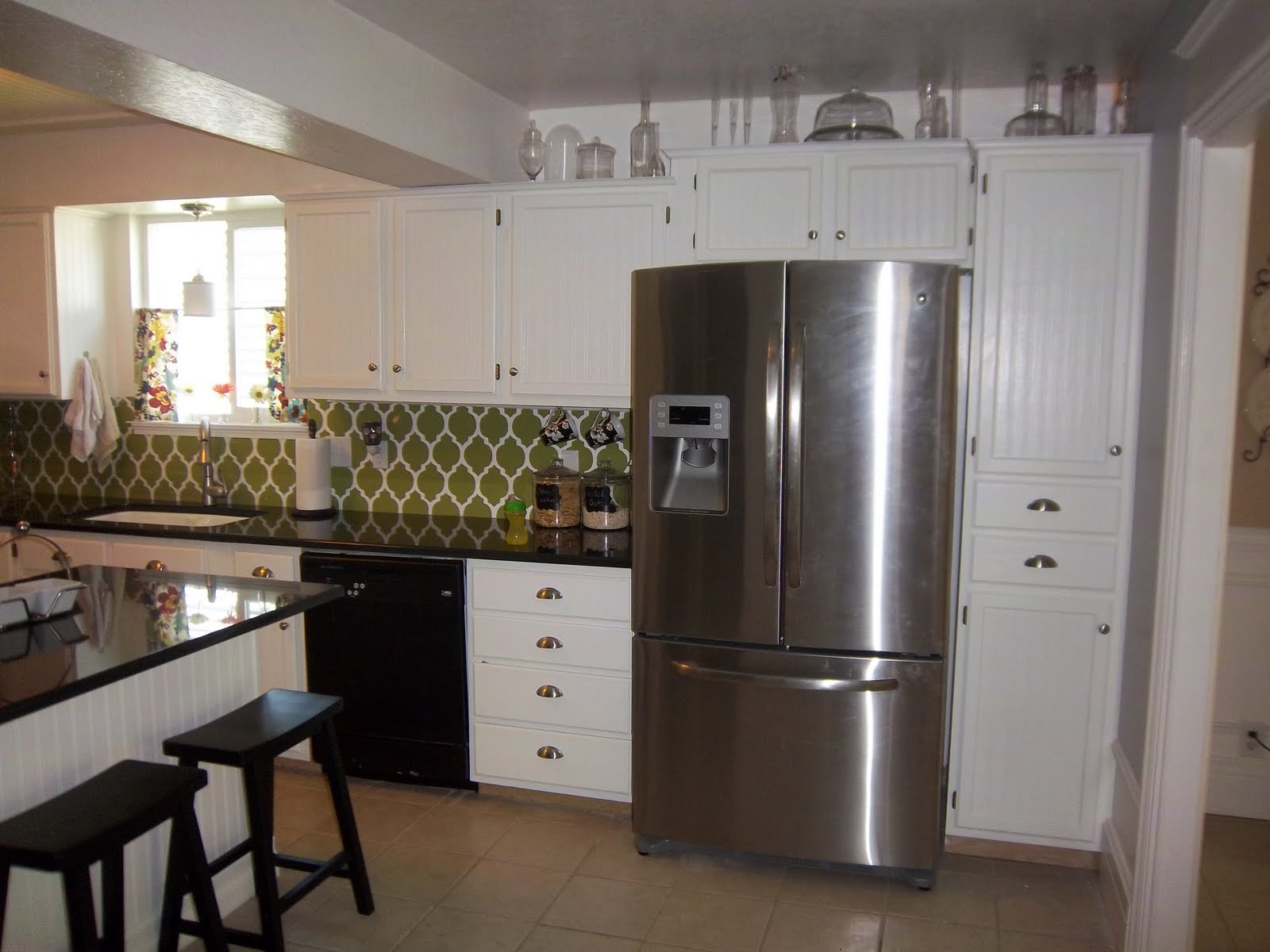 White Beadboard Kitchen Cabinets Remodelaholic Kitchen Remodel On A Budget