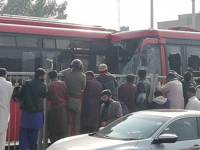 Metro Buses Crash In Lahore