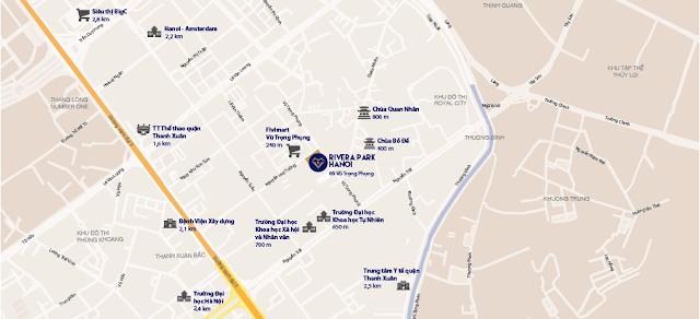 vị trí đắc địa của chung cư Rivera Park