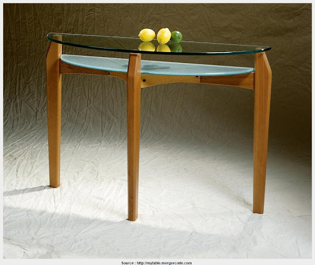 Cool glass top console tables