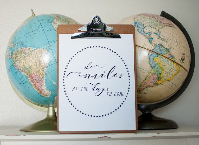 Vintage Globes and Clipboard with Word Art