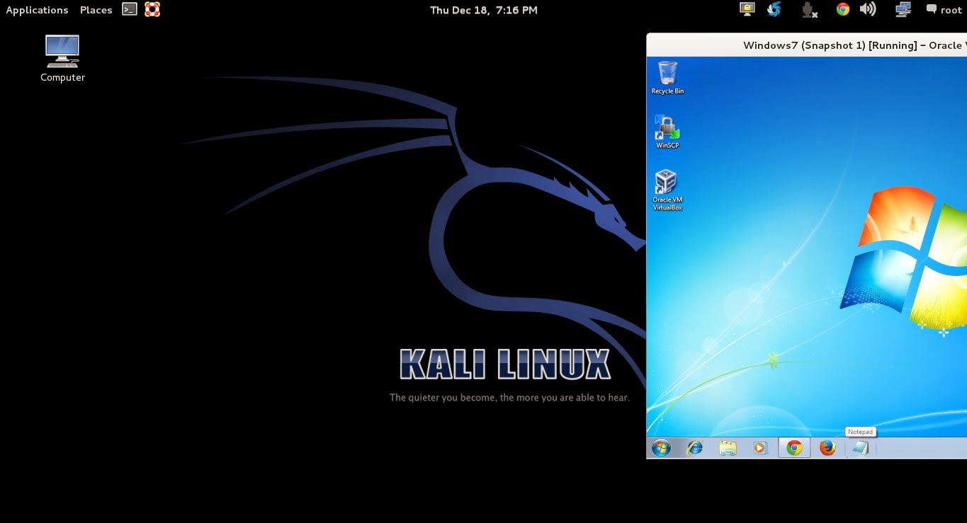 SHARE FILES BETWEEN KALI LINUX TO WINDOWS 7 | SERVER PRACTICE