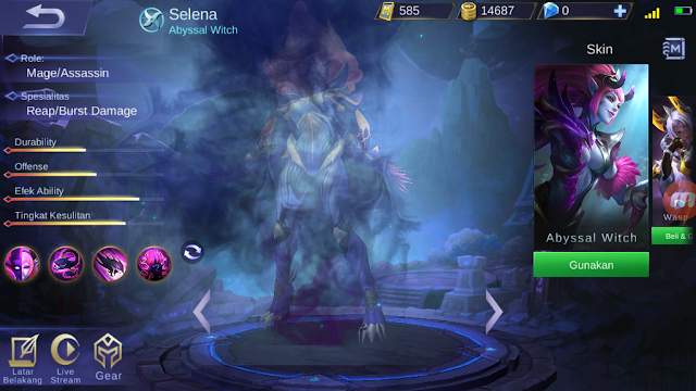 Skill Selena Mobile Legends