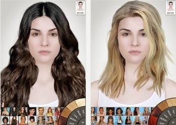 aplikasi model rambut dengan bentuk wajah