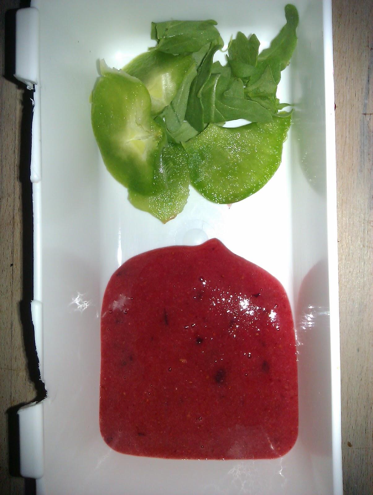 rucola salat med jordbær