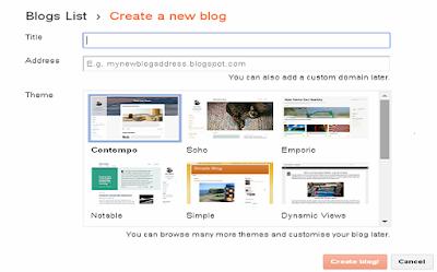 Blog on Blogger