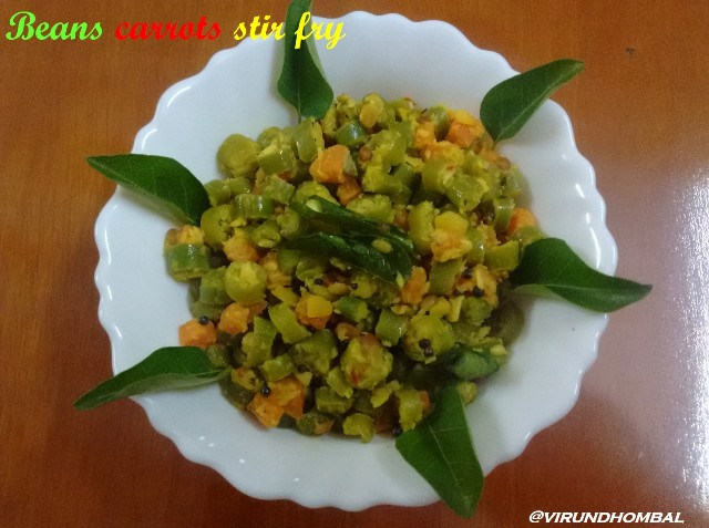 The combination of diced beans, diced carrots, cooked toor dal and coconut small onion paste makes a colourful side dish for Sambar, rasam and for all South Indian meals.This is an easy recipe that could work best for a busy weekday mornings for your lunch boxes because there is no much prepation after chopping the veggies. You don't need to cook seperate toor dal for this recipe, just add a tbsp of cooked dal from your already cooked dal for sambar. You can also leave it and just finish it with the coconut paste. As usual I prefer to cook the vegetables with little water and then sauted with the other ingredients. We follow this method for poriyal, thuvaram and other varieties for many years and the taste is also unique. So if you trust me, do try this method then you can feel the difference in the resulting dish.