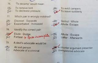 IB ACIO Tier I exam : Four Question will not taken into account