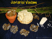 images of Javarisi Vadam / Sago Vadaam / Javvarisi Vadam Recipe